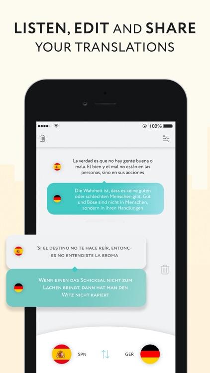 Speak & Listen Translator app screenshot-3