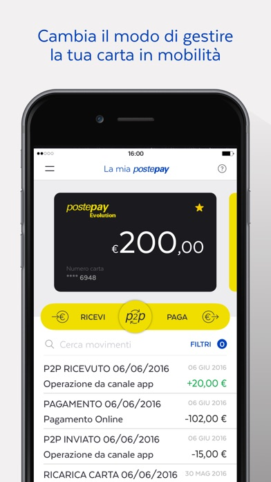 Screenshot for Postepay in Italy App Store
