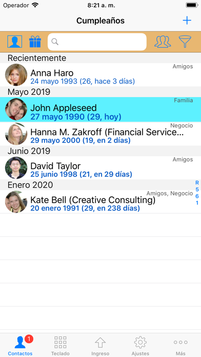Screenshot for ContactsPro para iPad in Colombia App Store