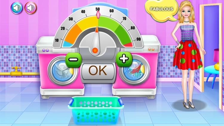 Olivias washing laundry game screenshot-6