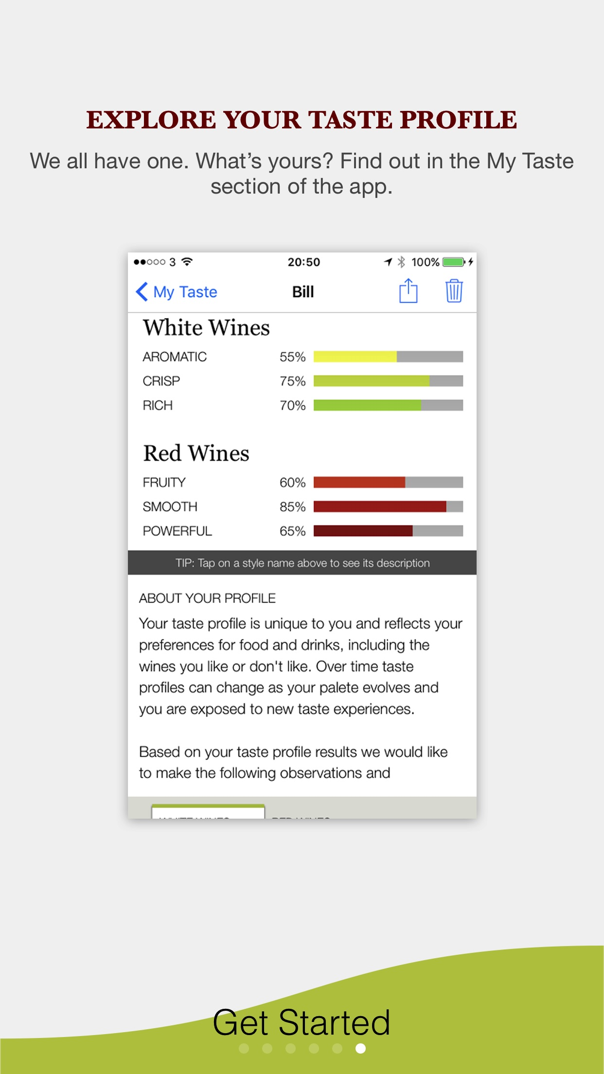 Screenshot do app Pocket Wine