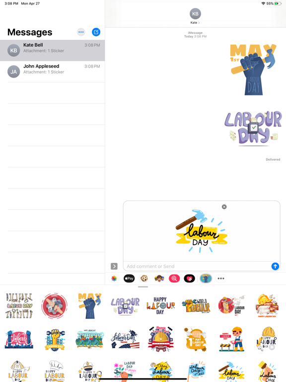 May Labour Day Stickers screenshot 5