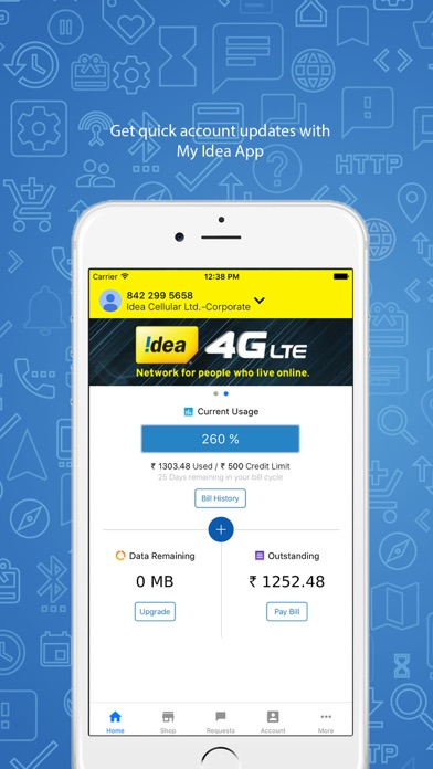 Screenshot #1 pour My Idea-Recharge and Payments
