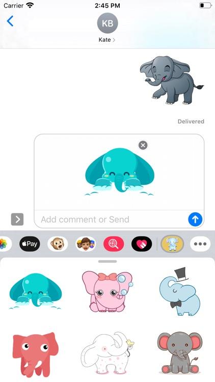 Baby Elephant Stickers
