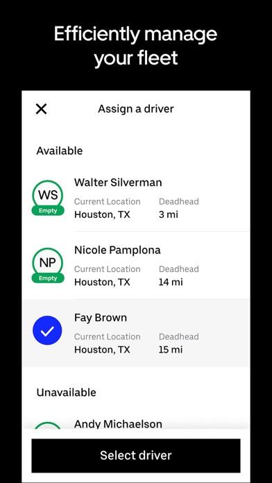 Uber Freight app image
