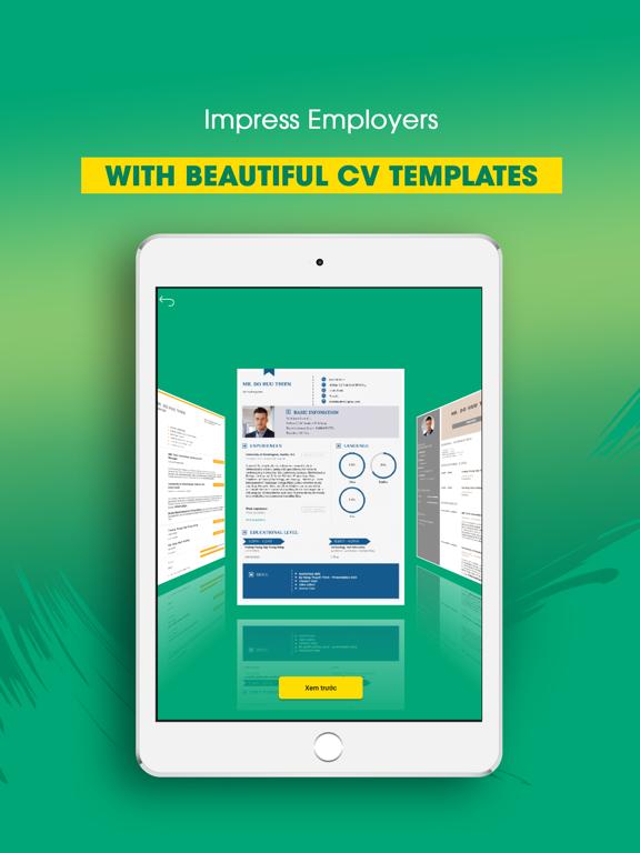Resume Maker - Export by PDF screenshot