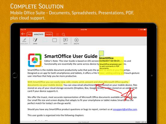 SmartOffice - Document Editing iPad app afbeelding 1