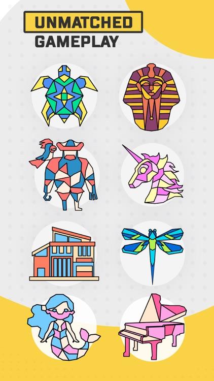 Trio - Polygon Coloring Puzzle screenshot-3