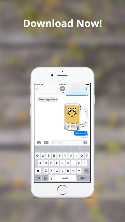 Cold Beer Emojis - Brew Text screenshot-4