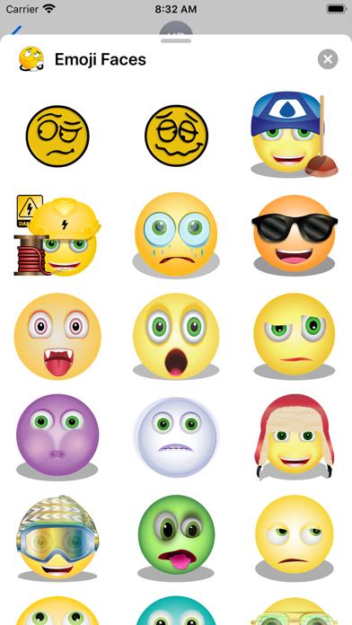 Emoji Faces Sticker Pack screenshot 5