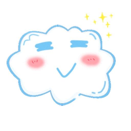 Fat clouds Sticker