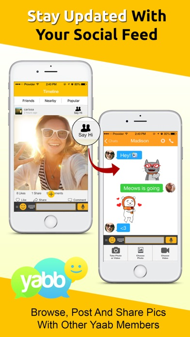 Yabb Messenger - Text and Chat Screenshot on iOS