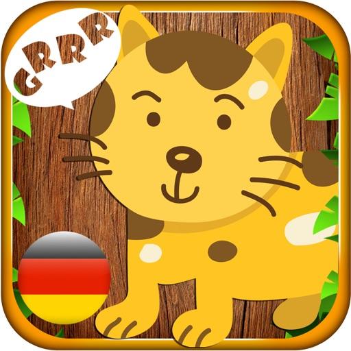 Tier Klang in Deutsch - Kid learns animal sound and name in German