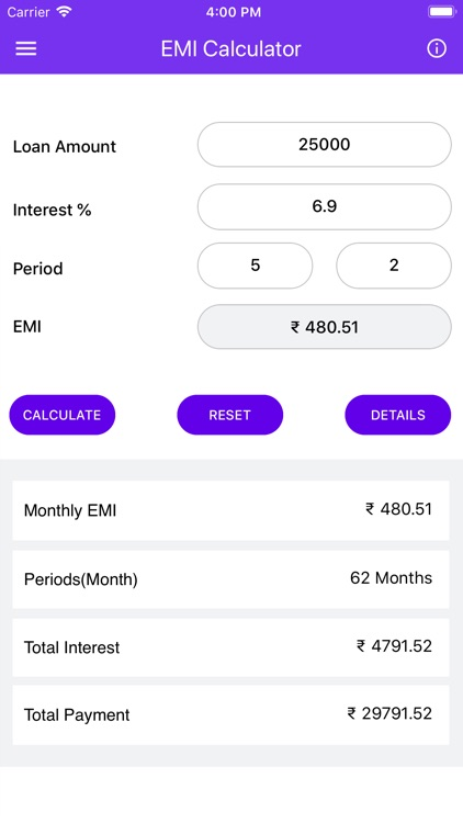 EMI Calculator 2019 screenshot-1