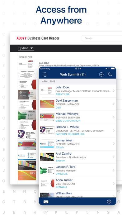 Business Card Reader Screenshot
