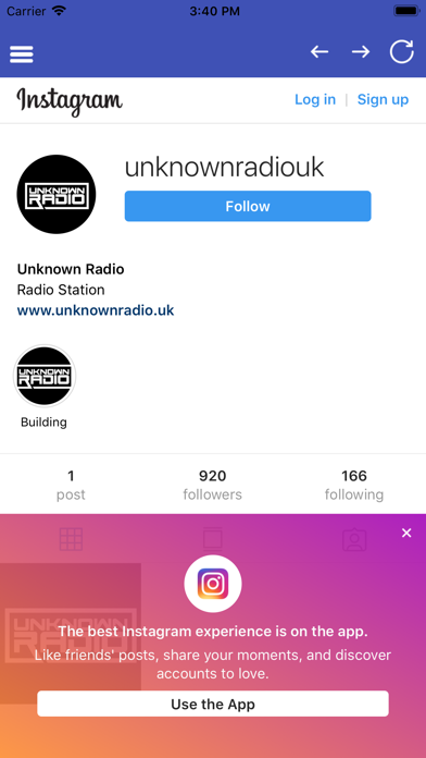 Unknown Radio app image