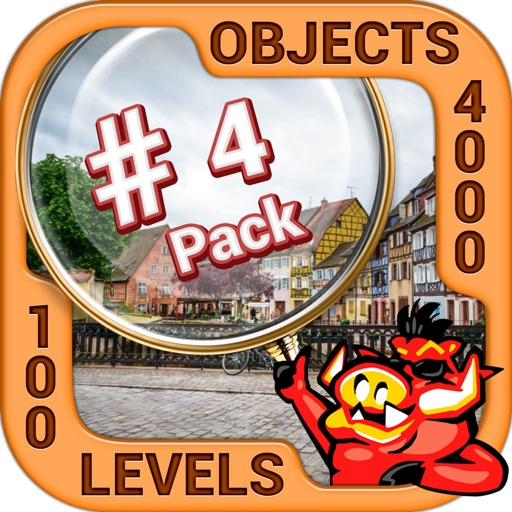 Pack 4 - 10 in 1 Hidden Object