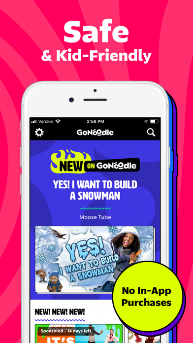 Screenshot for GoNoodle - Kids Videos in United States App Store