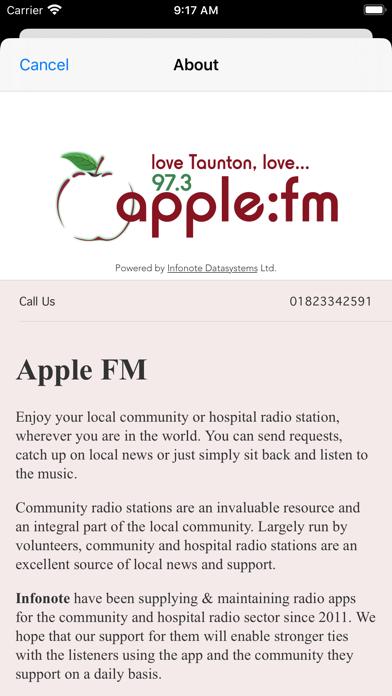 Apple FM screenshot three