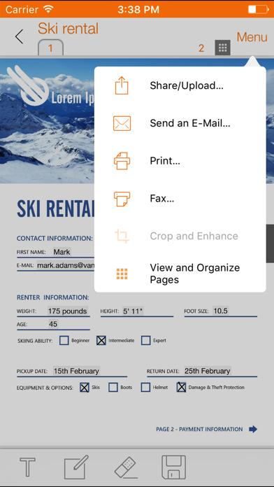 Screenshot of ScanWritr Pro3