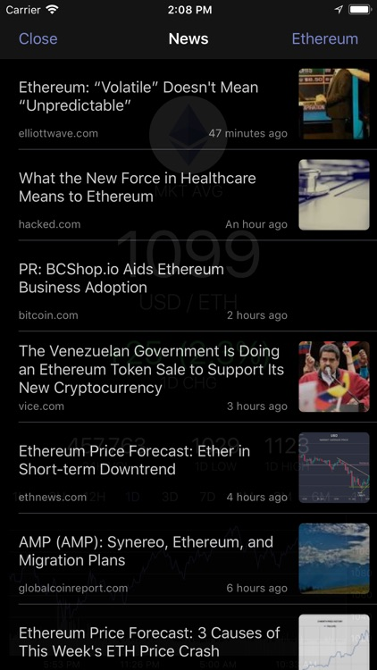 EthereumTick Ethereum Ticker screenshot-3