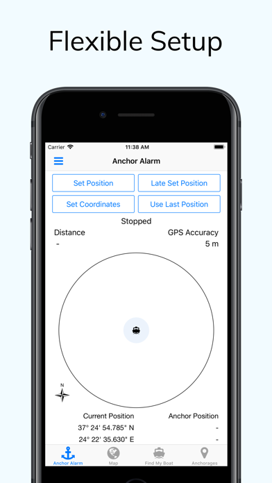 Screenshot for Anchor Alarm with Late Set in United States App Store