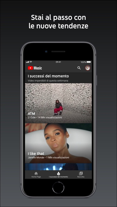 Screenshot for YouTube Music in Italy App Store