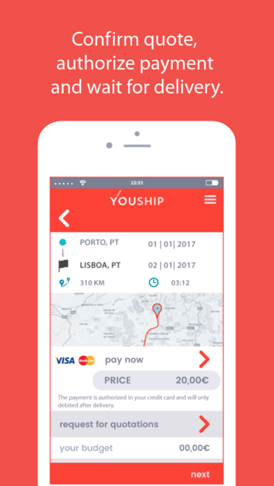 YOUSHIP - Delivery on demand screenshot three
