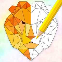 Geometric Animal Coloring Book
