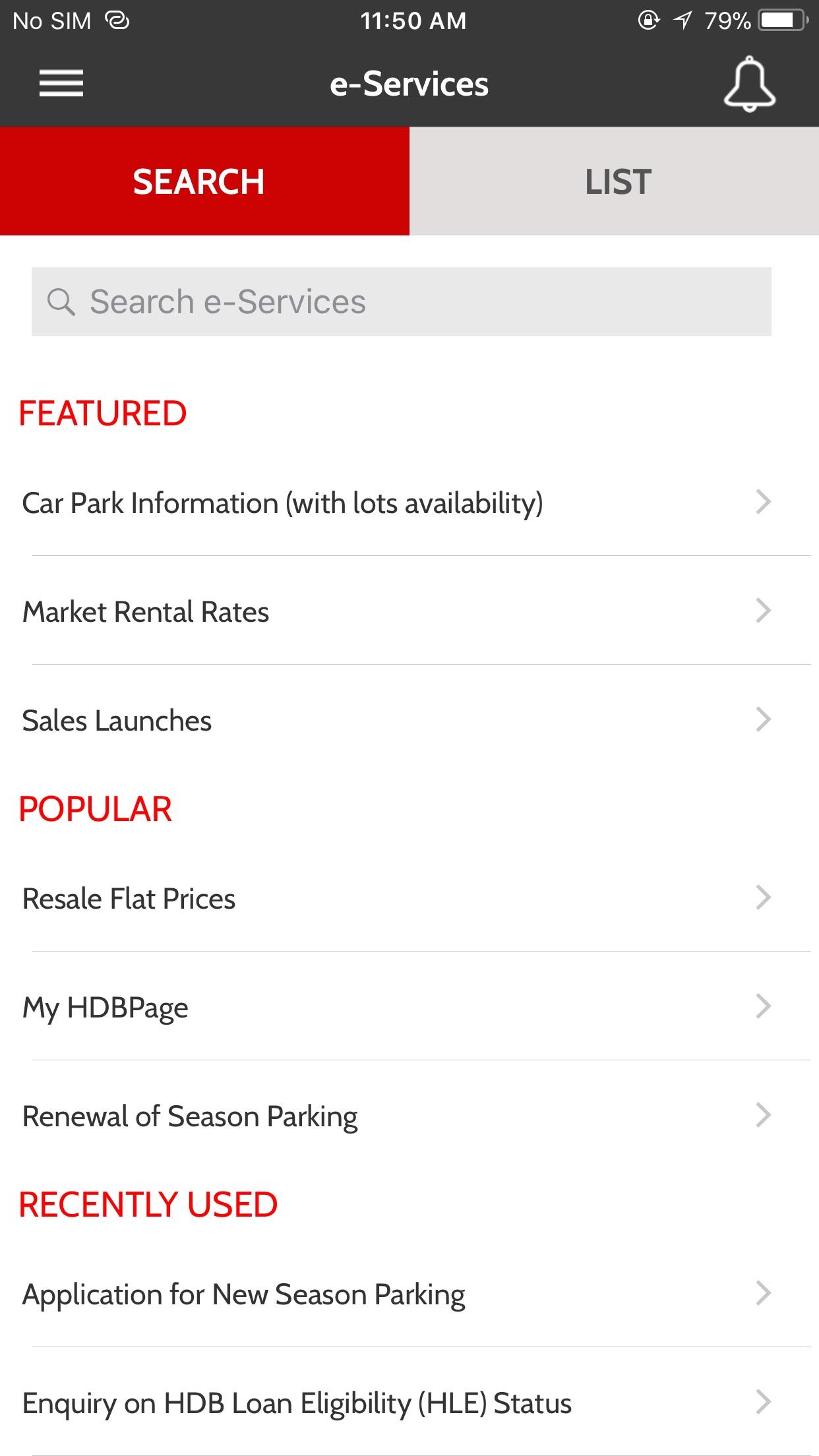 Mobile@HDB Screenshot
