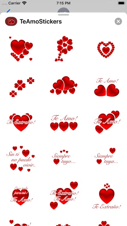 Te Amo Stickers