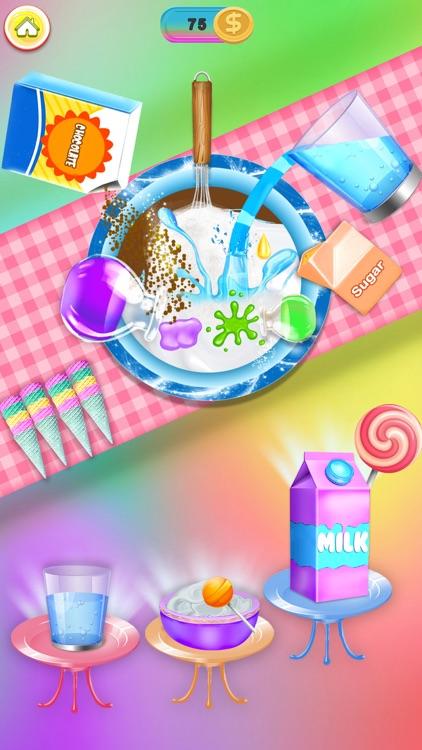 Rainbow Ice cream Popsicle