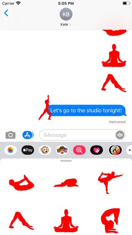 Fun Yoga Silhouette Stickers