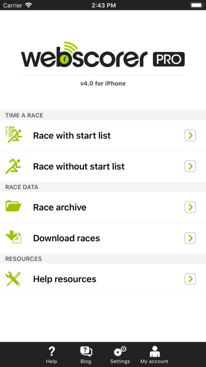 Race & Lap Timer for iPhone
