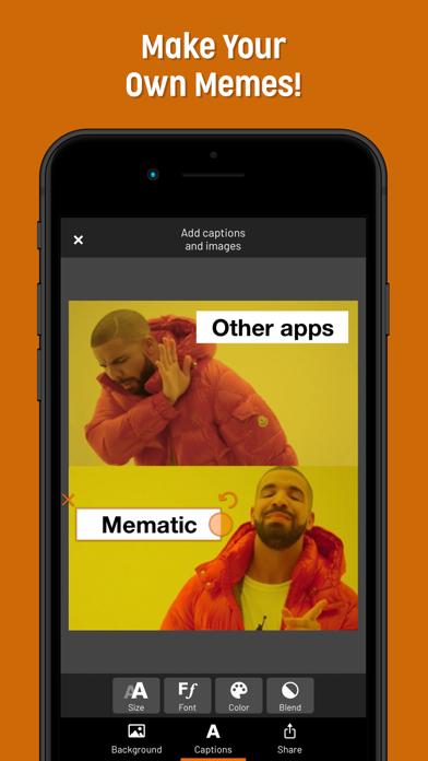 Screenshot for Mematic - The Meme Maker in Canada App Store