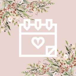 Wedding Countdown Boho Vintage