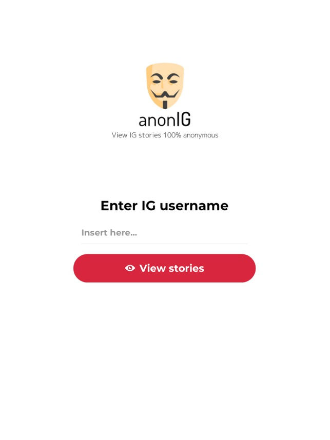 AnonIG - View IG stories on the App Store
