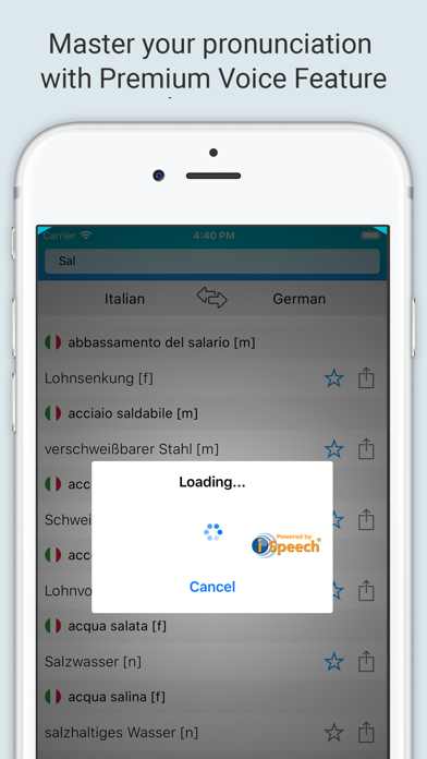 German Italian Dictionary + screenshot 4