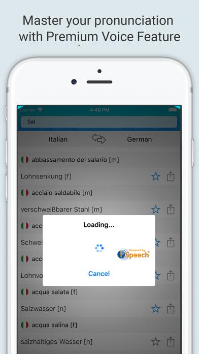 German Italian Dictionary + screenshot 4