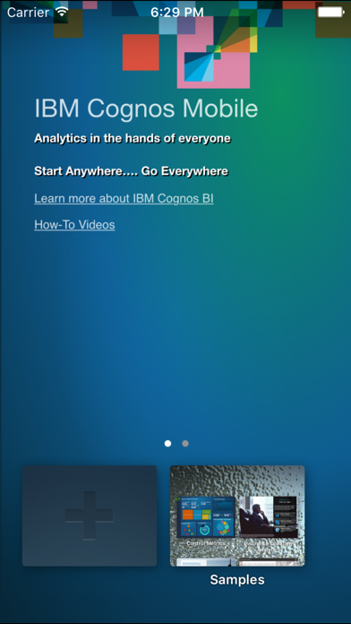 IBM Cognos Mobile screenshot two