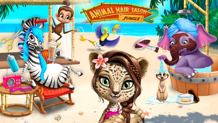 Jungle Animal Hair Salon 2 screenshot-0