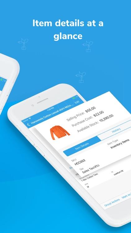 Inventory app - Zoho