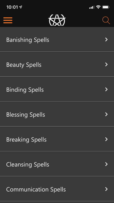 Screenshot for Wicca Spells and Tools in United States App Store