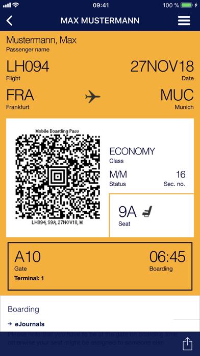 Screenshot for Lufthansa in Azerbaijan App Store