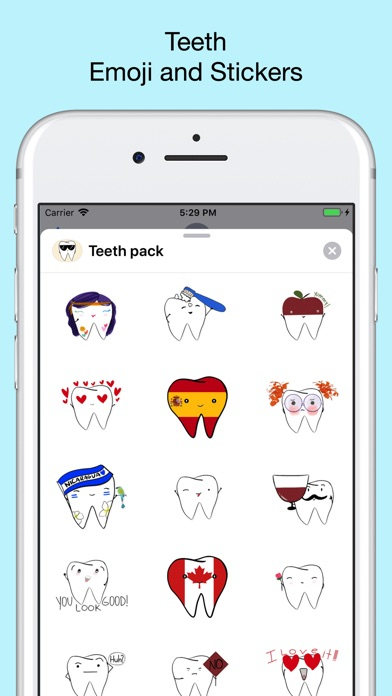 Teeth Emojis & Smiley stickers screenshot 1