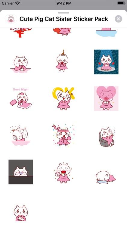 Cute Cat Animation Sticker