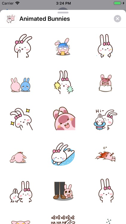 Animated Bunnies Stickers