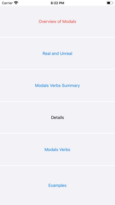 Modals screenshot 1