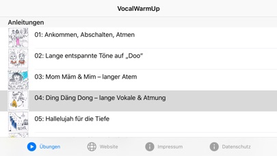 Screenshot for VocalWarmUp in United States App Store