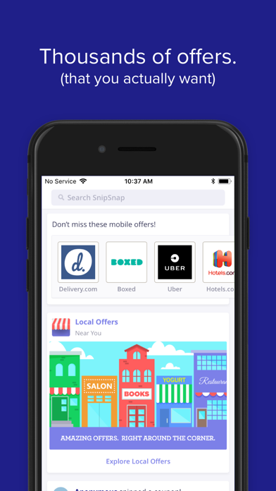 SnipSnap Coupon App screenshot
